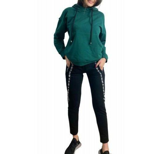 Bawełniany dres damski komplet De Lafense 496 Just zielony, kolor zielony