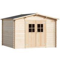 vidaXL Domek gospodarczy drewniany 3x3m ściany grubości 28mm (8718475972082)