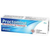 Proctomina, Żel chłodzący na hemoroidy, 30g - Długi termin ważności! DARMOWA DOSTAWA od 39,99zł do 2kg!