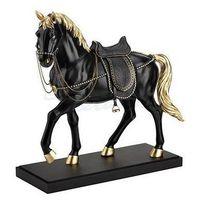 Czarny koń na podstawce z siodłem  (wu76735va) marki Veronese