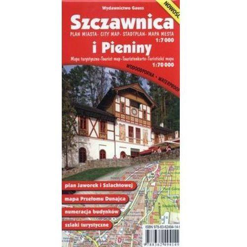 Szczawnica plan miasta (skal 1:7 000) i Pieniny mapa turystyczna (skala 1:20 000), oprawa broszurowa