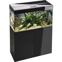 Aquael glossy 100 czarny 100x40x63cm zestaw akwariowy + szafka