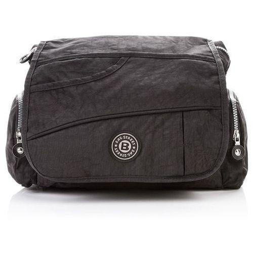 35f2f9cc10640 Zobacz w sklepie Sportowa torebka damska listonoszka czarna - czarny, kolor  czarny. BAG STREET