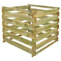 Vidaxl kompostownik drewniany 0,54 m3