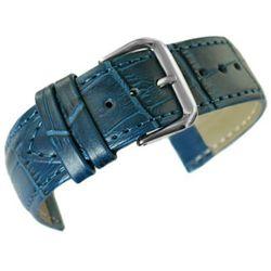 pasek do zegarka - skóra 20 mm - niebieski, kolor niebieski