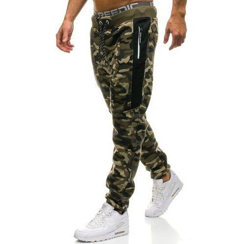 5b39bff767b81c ... Spodnie męskie dresowe joggery moro-zielone Denley QN271, dresowe -  Zdjęcie ...
