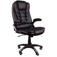 Fotel biurowy bruno czarny (czerwona nić) z masażem marki Giosedio