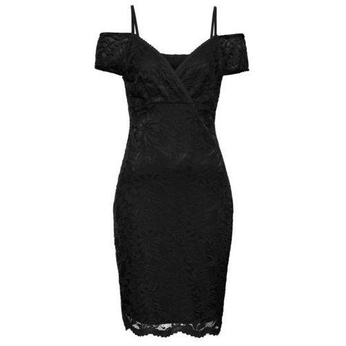 Sukienka koronkowa czarny, Bonprix, 34-50