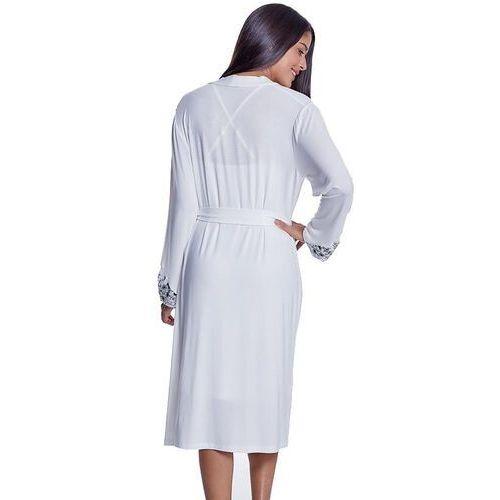 195afce7053a8a ... Koszula nocna damska OLIVIA ze szlafrokiem L Kremowy (8680404120294) -  Fotografia produktu ...