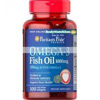 Omega 3 Fish Oil 1000 mg 100 kaps., Kwasy Omega 3, Puritan's Pride