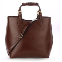 Torebka damska Shopper Bag Hit! ciemny brąz - brązowy
