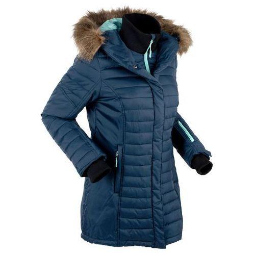 Długa kurtka outdoorowa pikowana ciemnoniebieski Bonprix