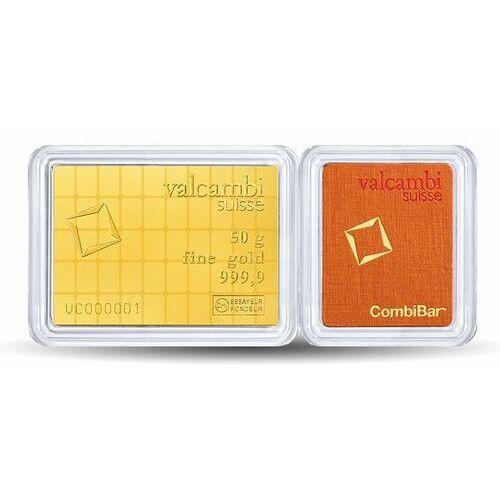 50 x 1g sztabka złota combibar marki Heimerle meule