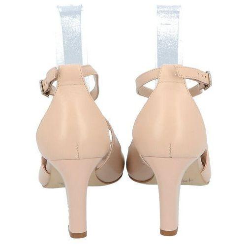 KOTYL 4325 BEŻOWE - Taneczne sandałki ze skóry - Beżowy