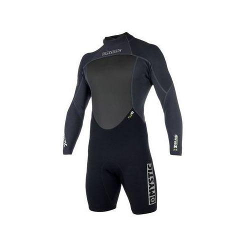 Mystic Pianka brand 3/2 longarm shorty back zip (black) 2019 (8715738599673)