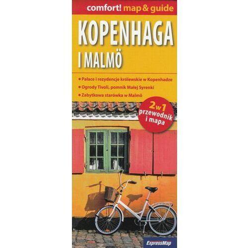Kopenhaga i Malmö laminowany map&guide (2w1: przewodnik i mapa), oprawa miękka