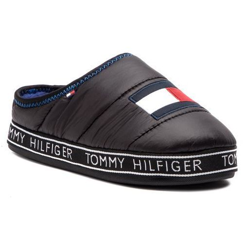 35661b71ce5e9 Tommy Hilfiger Kapcie TOMMY HILFIGER - Flag Patch Downslipper FM0FM02004  Black 990