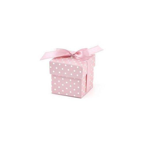 Pudełeczka dla gości z kokardką różowe - 10 szt.