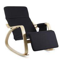 Oneconcept beutlin fotel bujany 68x90x97 cm (sxwxg) brzozowa sklejka multiplex czarny