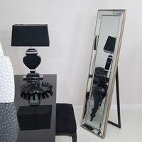 Design by impresje24 Lustro stojące w lustrzanej ramie, szlifowane fazą.