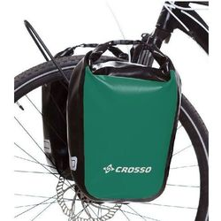 Crosso Sakwy rowerowe dry small 30l click system - zielony