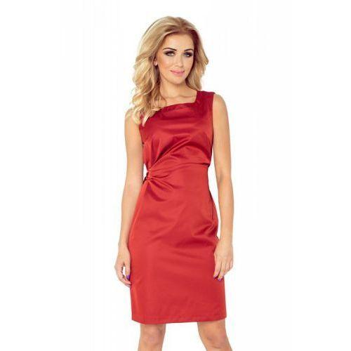 126-4 MEMORY - sukienka z wiązaniem - MIEDZIANY, kolor pomarańczowy