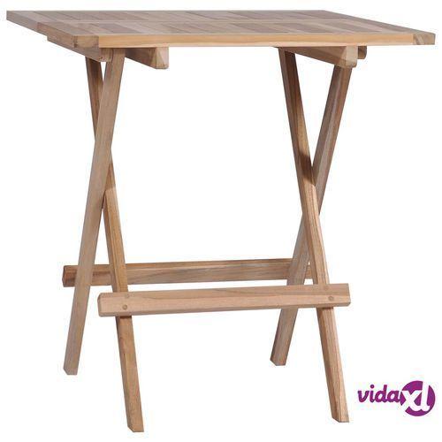Składany Stolik Bistro Lite Drewno Tekowe 60 X 60 X 65 Cm Vidaxl