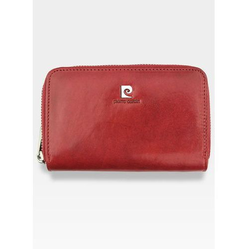 Pierre cardin Portfel damski skórzany czerwony zapinany 507.10 503 - czerwony