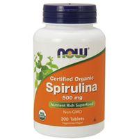 NOW FOODS Spirulina Certified Organic 500mg - 200 tabletek