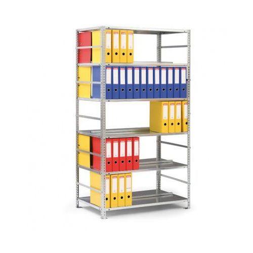 Regał na segregatory compact, ocynk, 7 półek, 2200x1000x600 mm, podstawowy marki Meta