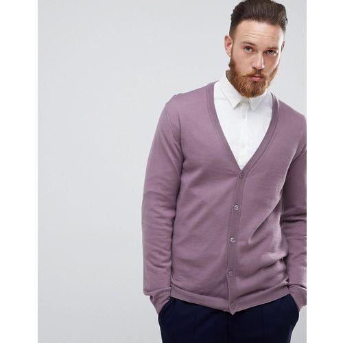 Merino wool cardigan in lilac - purple Asos