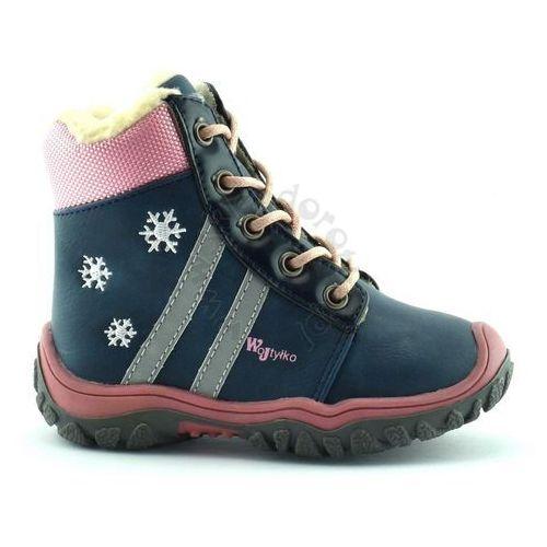 a38e638a Dziecięce buty zimowe Wojtyłko 11807 - Różowy ||Granatowy, kolor różowy - 2
