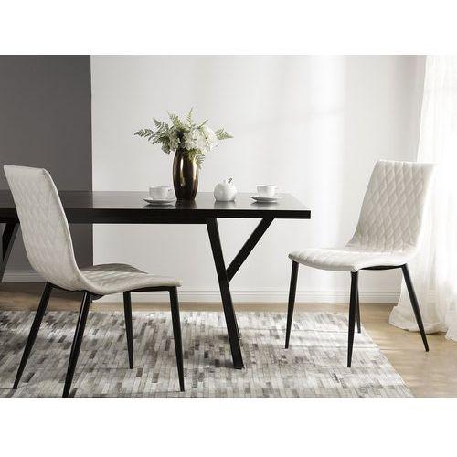 Zestaw do jadalni 2 krzesła kremowe montana marki Beliani