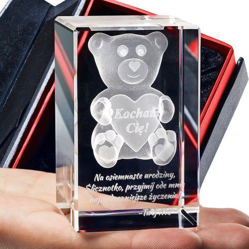 Pluszowy Miś 3D • personalizowany kryształ 3D • GRAWER 3D