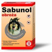 Laboratorium dermapharm Sabunol szara obroża przeciw pchłom i kleszczom dla psa 75 cm - 75cm