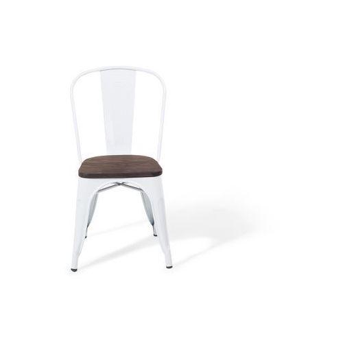 Zestaw do jadalni 2 krzesła biało-ciemnobrązowe apollo marki Beliani