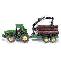 Siku Traktor z przyczepą leśną (4006874019540)