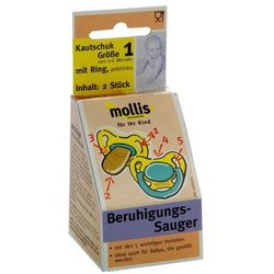 Smoczek dla dzieci kauczukowy do 6 miesiąca (2 szt.) - mollis marki Mollis (smoczki dla dzieci)