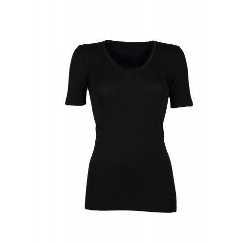 Dilling (dania) Koszulka damska z wełny merynosów (100%) - krótkie rękawy - czarna (prod. dilling)