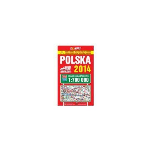 POLSKA 2014 MAPA SAMOCHODOWA 1:700 000 (1 str.)