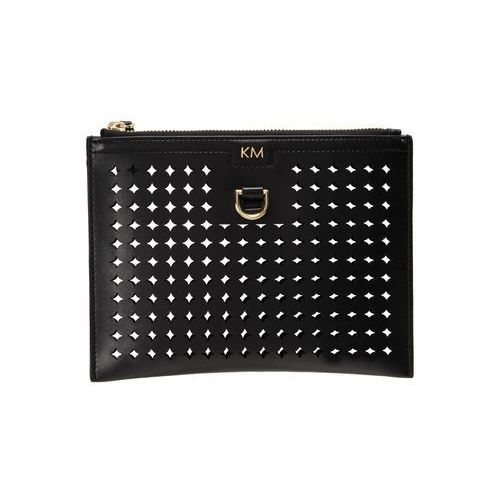 Karen Millen CIRCLE PERFORATED COLLECTION PURSE Portfel black, GC314