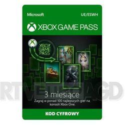Subskrypcja xbox game pass (3 m-ce) [kod aktywacyjny] marki Microsoft