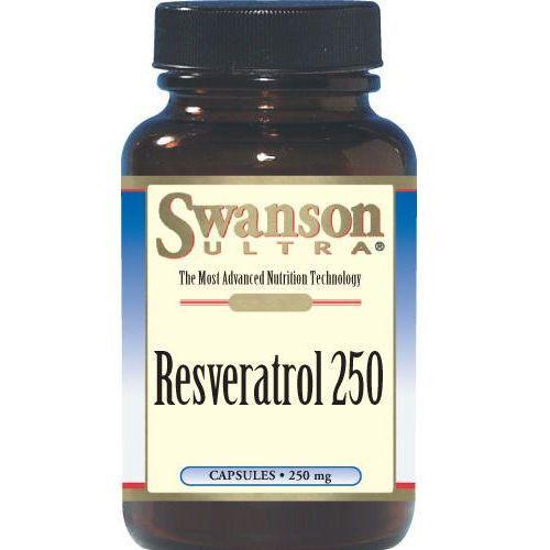 Swanson Resveratrol 250mg 30kaps Resweratrol - suplement diety