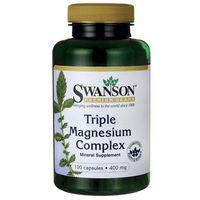 Kapsułki Swanson Triple Magnesium Complex (Kompleks 3 Magnezów) 100 kaps.