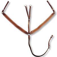 vidaXL Skórzany, elastyczny napierśnik z wytokiem dla konia, brązowy