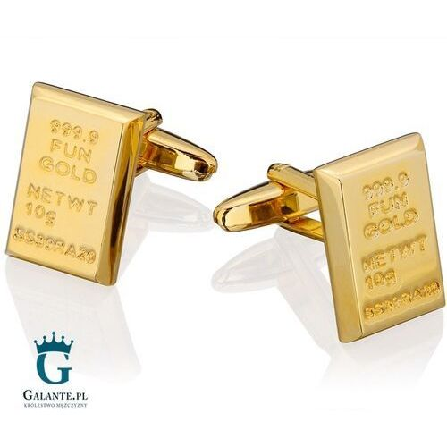 Spinki do mankietów x2 sztabka złota marki Galante