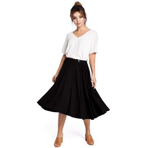 897671bb1e Czarna spódnica rozkloszowana za kolano (MOE) - sklep SkladBlawatny.pl