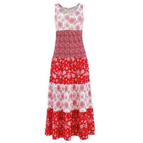 38691575ee Sukienka shirtowa truskawkowy z nadrukiem (bonprix) - sklep ...