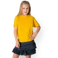 Koszulka dziecięca (bez nadruku, gładka) - żółta