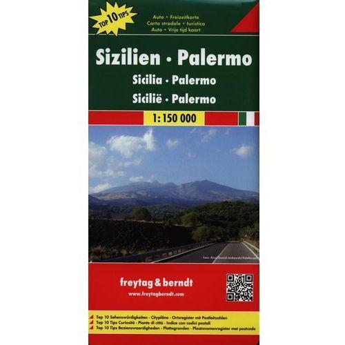Sycylia, Palermo 1:150 000. Mapa samochodowa, składana. Freytag&Berndt, praca zbiorowa
